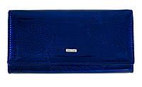 Элегантный кошелек для женщин из натуральной лакированной кожи в синем цвете от Balisa (12408)