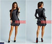 Женское платье с рюшами