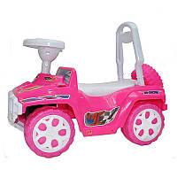 Машинка для катания ярко-розовая