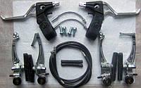 Комплект ободных велосипедных тормозов типа V-Brake для велосипеда