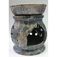 Ароматическая лампа из мыльного камня для помещений (7,5х6х6 см)