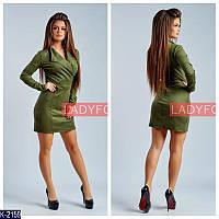 Женское платье замшевое