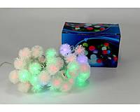 Разноцветная електрогирлянда с украшением на лампочках 40P B1