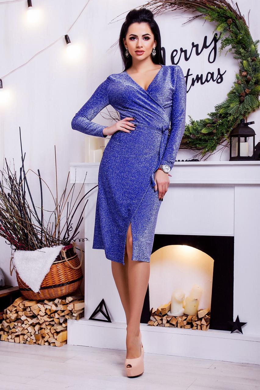 Стильное платье Люрекс 3661