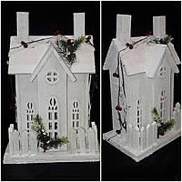 Новогодний декор - большой эксклюзивный дом с лед подсветкой, 42х28х18 см., 1100/950 (цена за 1 шт. + 150 гр.)