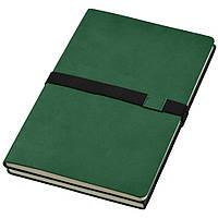 Записная книжка 'Doppio' (JournalBooks), белый блок в линейку, кожзам, чехол, зеленая