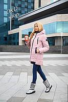 Женская стильная длинная курточка с капюшоном, в расцветках, р-р 48-56