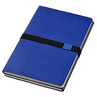 Записная книжка 'Doppio' (JournalBooks), белый блок в линейку, кожзам, чехол, синяя