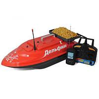 Прикормочный кораблик Дельфин 2L с эхолотом Lucky FF718LiW