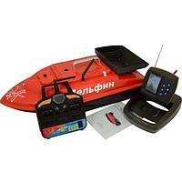 Прикормочный кораблик Дельфин-2L PRO+GPS с эхолотом Lucky FF918-C