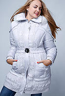 Зимняя куртка   23214 Большой Размер Женская серый, 52