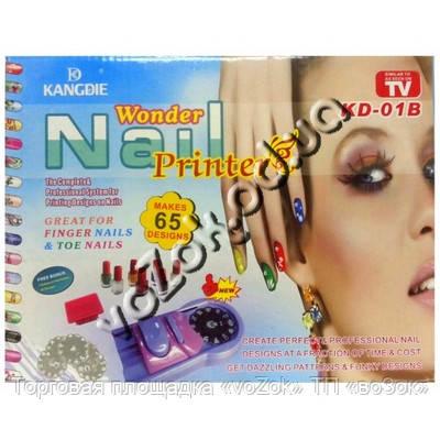 Машинка-принтер для нанесения рисунков на ногти Wonder Nail Printer KD-01B (принтер для маникюра)