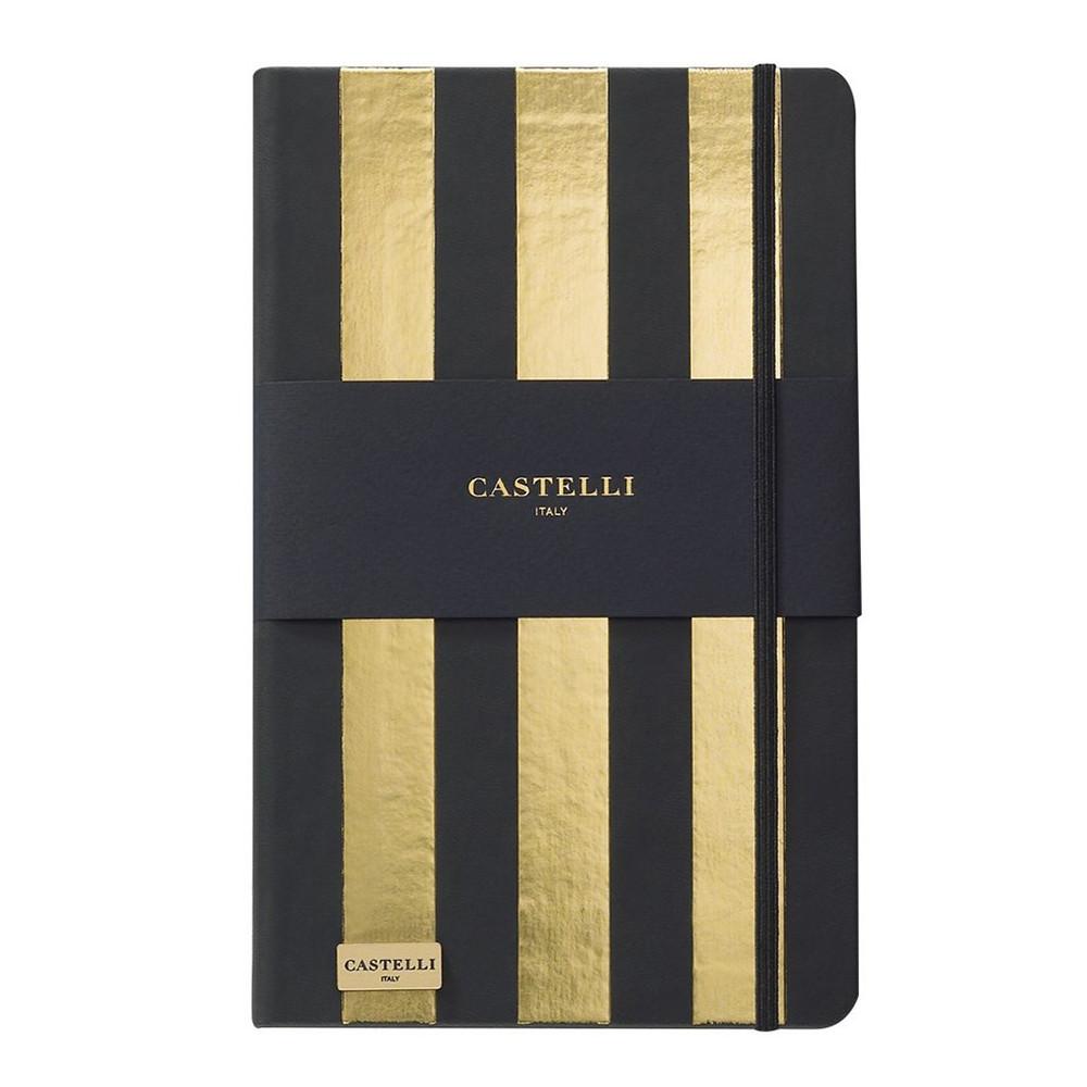 Записная книжка Кастелли Stripes, кремовый блок в линейку, кожзам, золотой срез, золотая