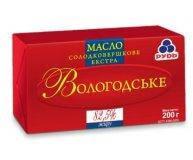 Масло сливочное Вологодское ГОСТ 82,5% 200 гр