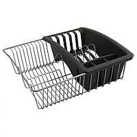 Сушилка для посуды с лотком для столовых приборов Metaltex 35x30 см