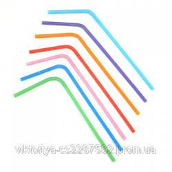 Трубочки Асорті різнокольор. з гофрою  21см 200шт