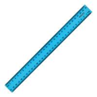 Линейка пластиковая 30см. Delta 9800-03, голубая, матовая