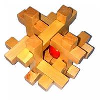 Головоломка деревянная 7,5х7,5х7,5см (28019A)