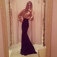 Длинное платье золотой песок арабис