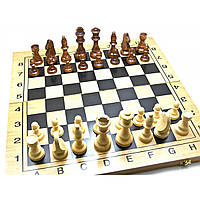 Нарды шахматы шашки из бамбука 49х49х2,5см (26011)