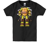 Детская футболка с туловищем черепашки нинзя