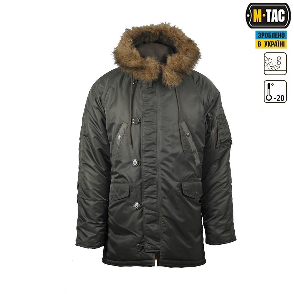 """Куртка N3B """"Зимове сонце"""" (Аляска) оливкова"""