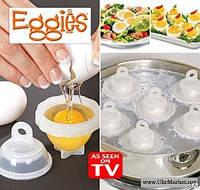 Яйцеварка-формы для варки яиц без скорлупы Eggies (ОПТОМ)