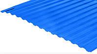 Лист Bauglas с 2УФ-защитой  3000x1050x0,8мм синий
