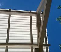 Лист Bauglas c 2УФ-защитой 6000x1050x0,8мм белый/опал, трапеция