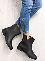 02-18 Черные элегантные женские резиновые сапоги женские d33 36