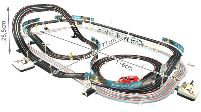 Детская железная дорога и автотрек Racing 630см 2в1.
