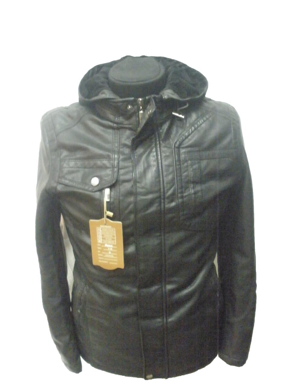 Куртка мужская черная с капюшоном