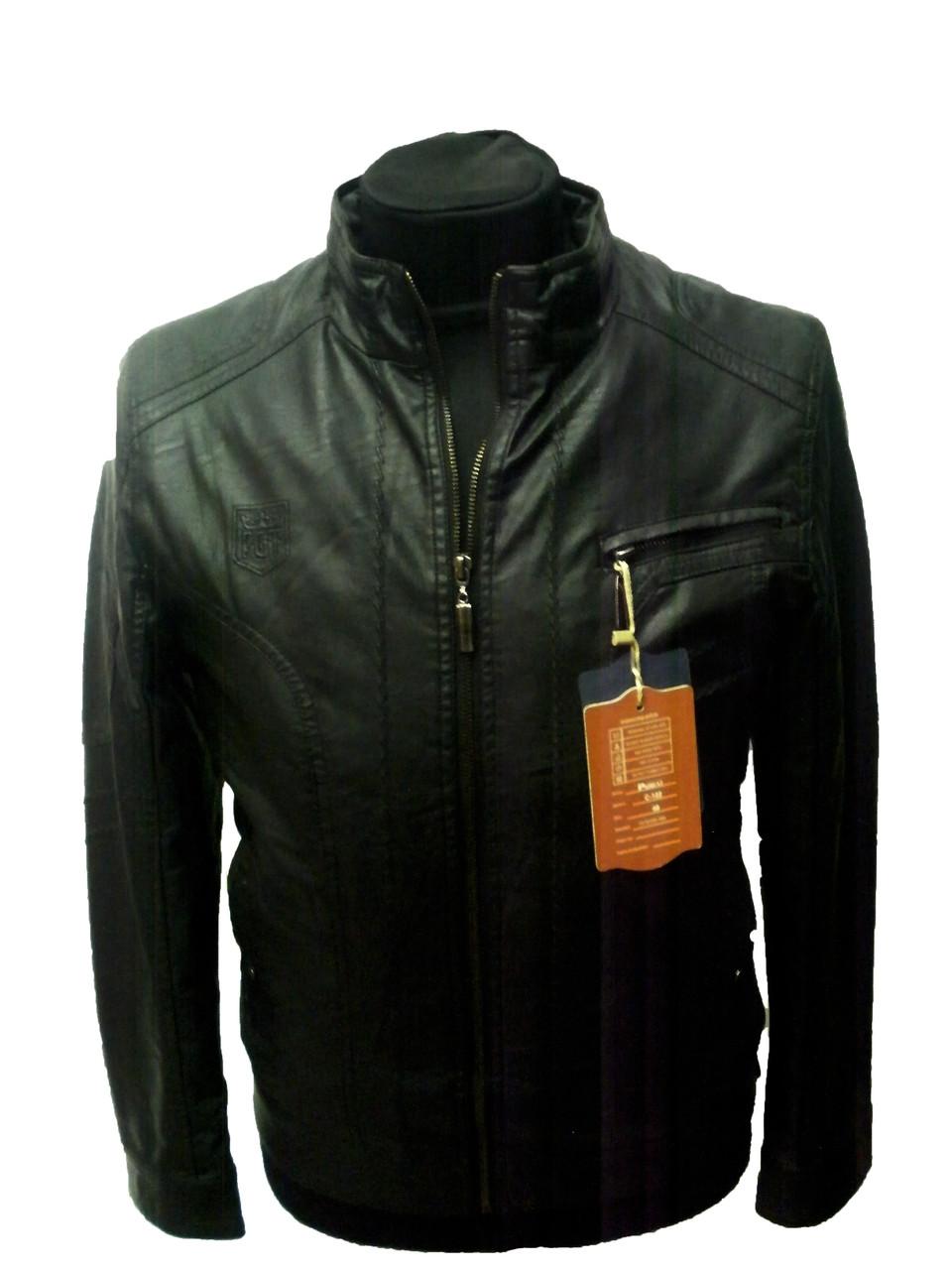 Куртка мужская черная-демисезонная