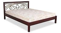 Кровать двухместная с ковкой Модерн ЧДК 140×200