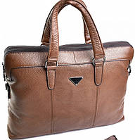 Мужской портфель из натуральной кожи два отделения