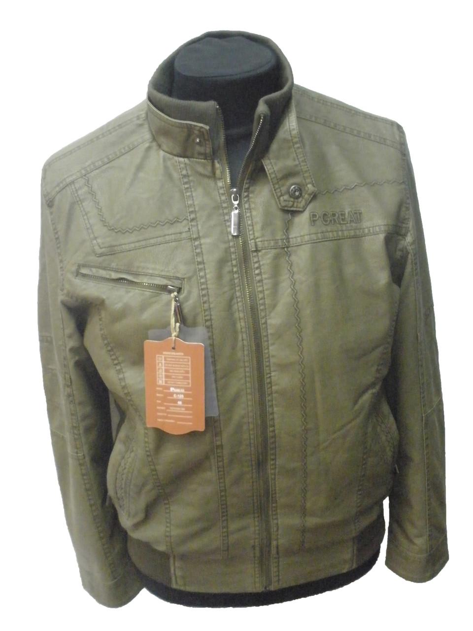 Куртка мужская оливковая-демисезонная