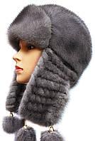Зима вязаное ухо (серая)
