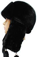 Зима вязаное ухо (черный)