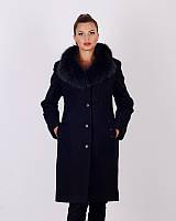Пальто зимнее, шерсть, 48-56р черный