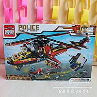 Конструктор Столкновение 654 деталей серия POLICE BRICK коробка