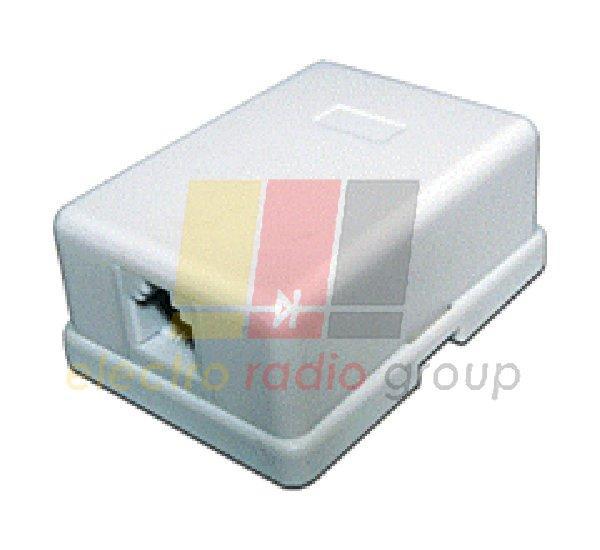 Компютерная.розетка х1 (8P8C) наружная  на липучке