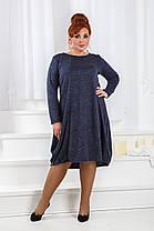 ДР1547 Платье ассиметричное размеры 50-56, фото 2