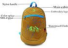Ультралегкий складной рюкзак Jungle King 20L оранжевый, фото 4