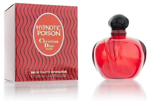 Женская туалетная вода Hypnotic Poison (красная коробка в черные волны) - 100 мл
