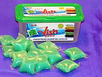 Растворимые капсулы для стирки цветного и белого белья ТМ VISH 15*24