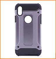 Бронированный противоударный TPU+PC чехол IMMORTAL для IPhone X / 10 Grey