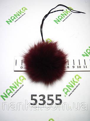 Меховой помпон Кролик, Бордовый, 7 см, 5355, фото 2