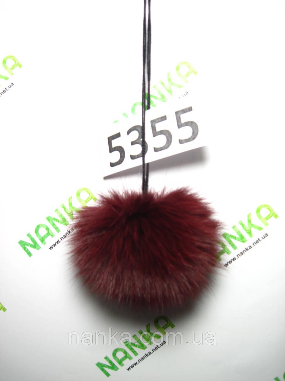 Меховой помпон Кролик, Бордовый, 7 см, 5355