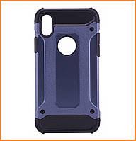 Бронированный противоударный TPU+PC чехол IMMORTAL для IPhone X / 10 Metallic Grey