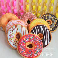 Декоративная Подушечка Пончик 8 видов 35*35*15 см